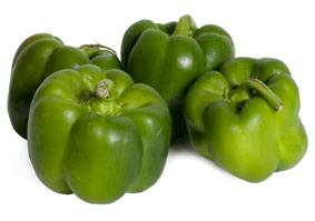 Green peppers from Lady Moon Farms