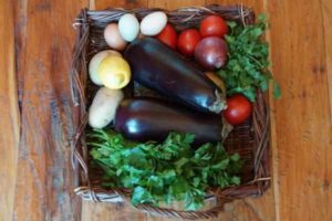 Eggplant with Potatoes and Tomatoes 1