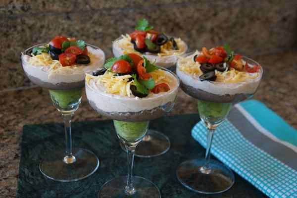 Mini Mexican Dip Appetizers
